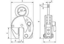 Camlok CZ vertical plate lifting clamp