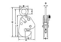 Camlok CG girder turning clamp