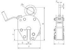 Camlok non-marring plate lifting clamp